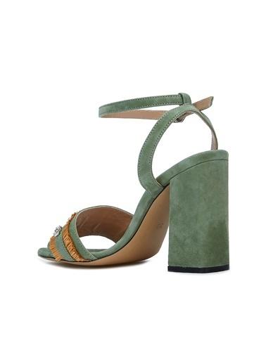 Divarese 5025214 Kadın Sandalet Yeşil